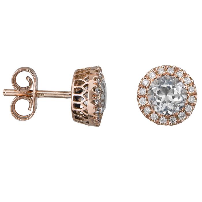 Ροζ gold σκουλαρίκια Κ18 030605 030605 Χρυσός 18 Καράτια