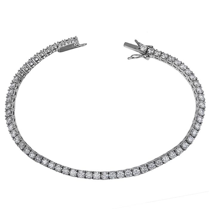 Βραχιόλι ριβιέρα με διαμάντια Κ18 030678 030678 Χρυσός 18 Καράτια