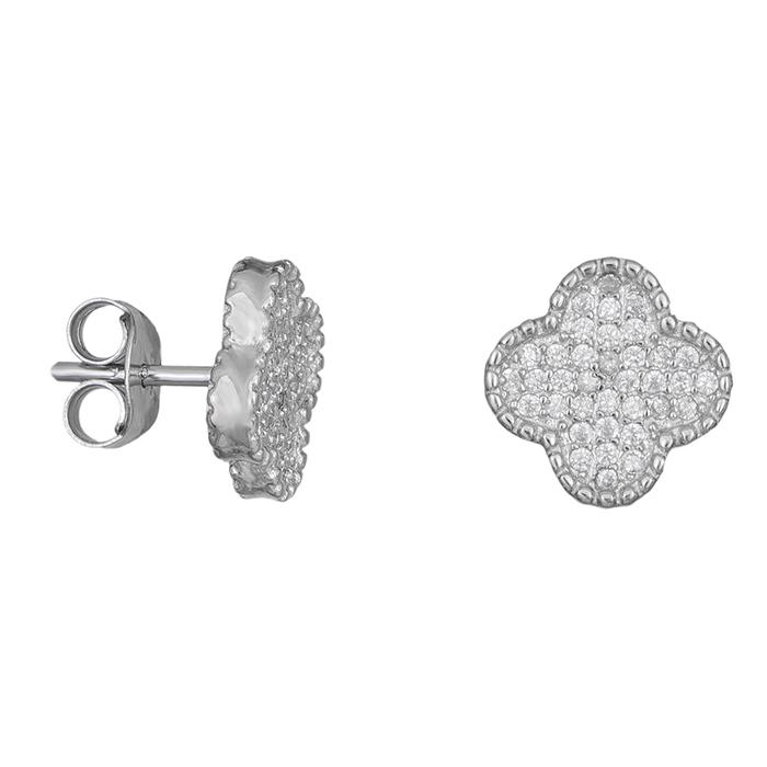 Ασημένια σκουλαρίκια 925 πετράτα σταυρουδάκια 030854 030854 Ασήμι