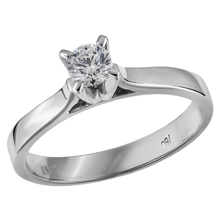 Μονόπετρο με διαμάντι μπριγιάν 18Κ 030855 030855 Χρυσός 18 Καράτια 66026987c82