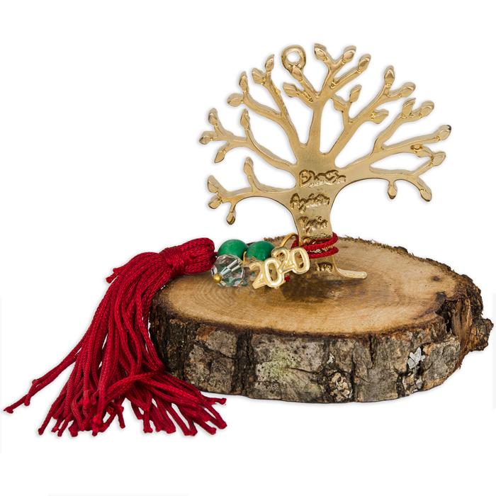 Γούρι 2020 δέντρο ζωής με ευχές 030991 030991