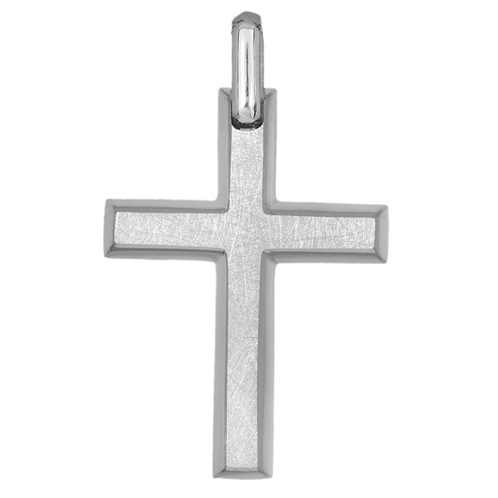 Σταυροί Βάπτισης - Αρραβώνα Λευκόχρυσος ματ σταυρός Κ14 για . 0483bc0ee5f