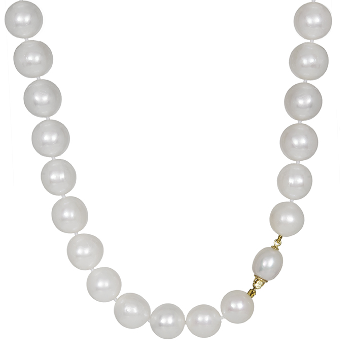 Γυναικείο μαργαριταρένιο κολιέ Κ18 031122 031122 Χρυσός 18 Καράτια