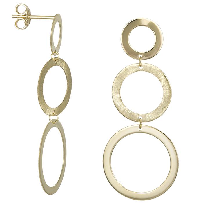 Κρεμαστά σκουλαρίκια Κ14 κρεμαστοί κρίκοι 031241 031241 Χρυσός 14 Καράτια