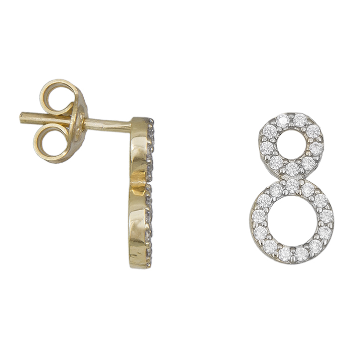 Χρυσά σκουλαρίκια Κ14 πετράτοι κύκλοι 031396 031396 Χρυσός 14 Καράτια