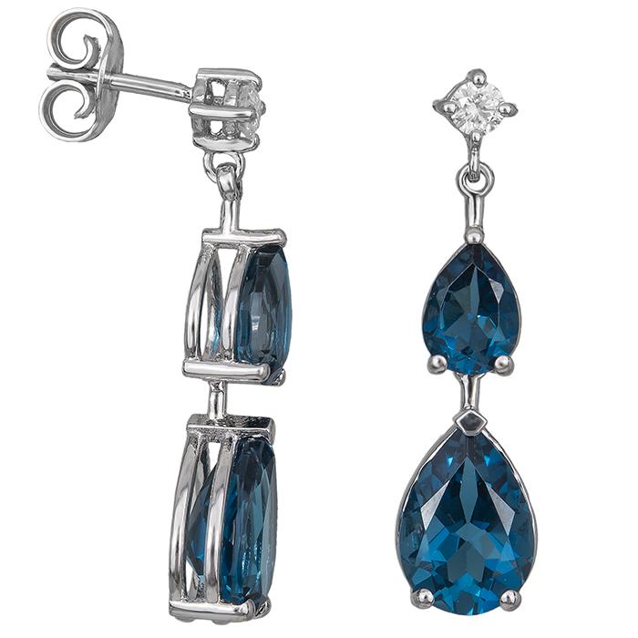 Σκουλαρίκια Κ18 London Blue 031443 031443 Χρυσός 18 Καράτια