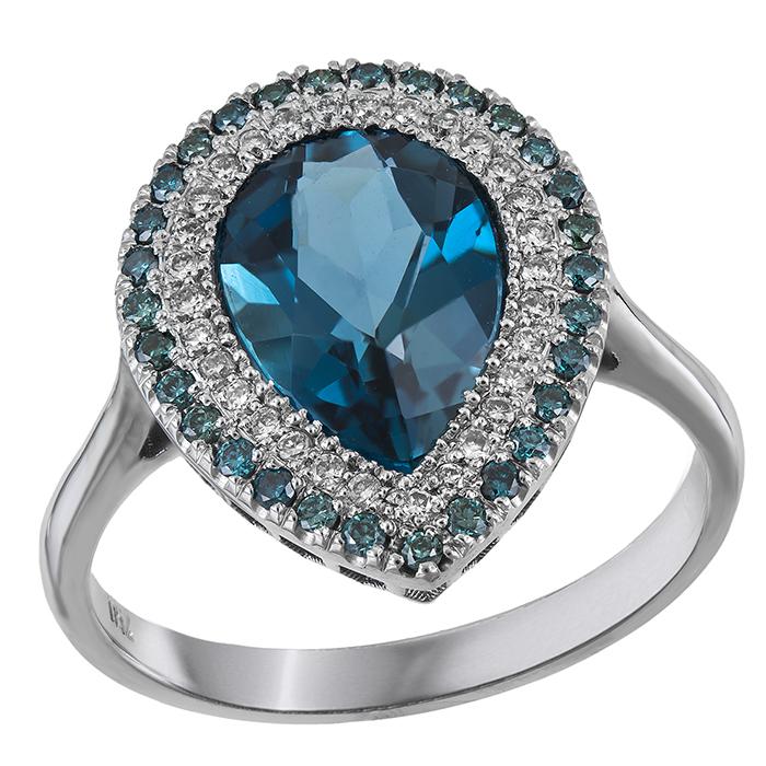 Δαχτυλίδι ροζέτα δάκρυ Κ18 031444 031444 Χρυσός 18 Καράτια 335397a9f03