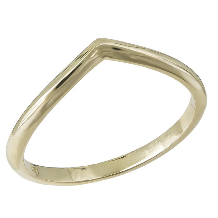 Χρυσό δαχτυλίδι Κ14 σε σχήμα V 031690 031690 Χρυσός 14 Καράτια