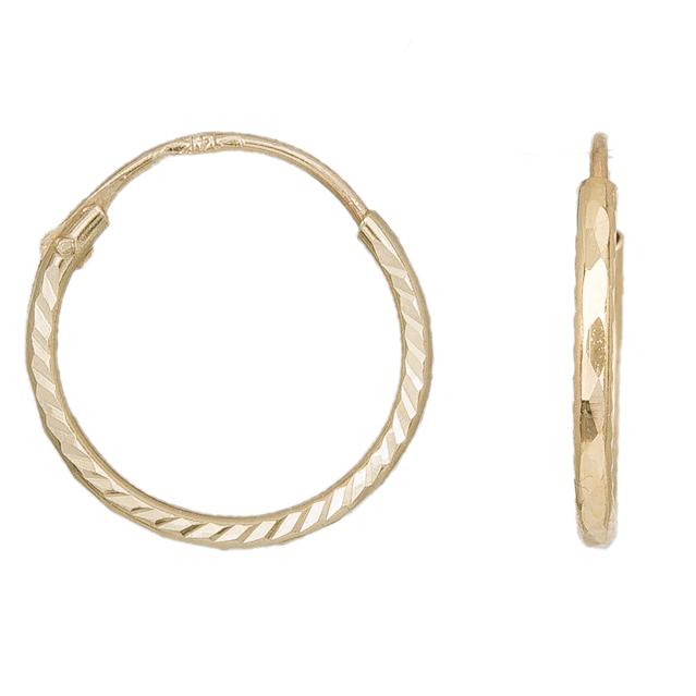 Ανάγλυφα κρικάκια χρυσά Κ14 031782 031782 Χρυσός 14 Καράτια