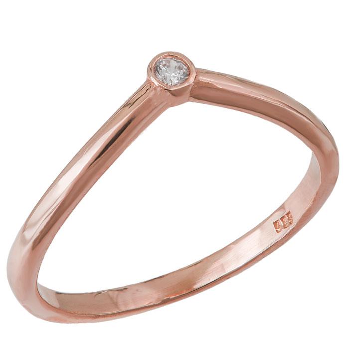 Ροζ gold δαχτυλίδι Κ14 με ζιργκόν 031798 031798 Χρυσός 14 Καράτια