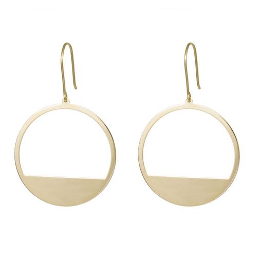 Γυναικεία κρεμαστά σκουλαρίκια 031855 031855 Χρυσός 14 Καράτια