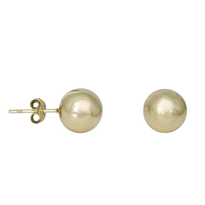 Γυναικεία σκουλαρίκια Κ9 μπίλιες 032117 032117 Χρυσός 9 Καράτια