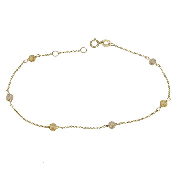 Χρυσό βραχιόλι Κ9 με χάντρες 032184 032184 Χρυσός 9 Καράτια