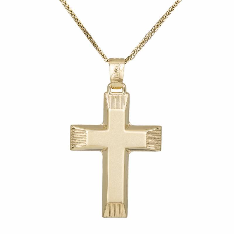 Βαπτιστικοί Σταυροί με Αλυσίδα Ανδρικός Σταυρός Κ14 με Αλυσίδα 032376C 032376C Ανδρικό Χρυσός 14 Καράτια