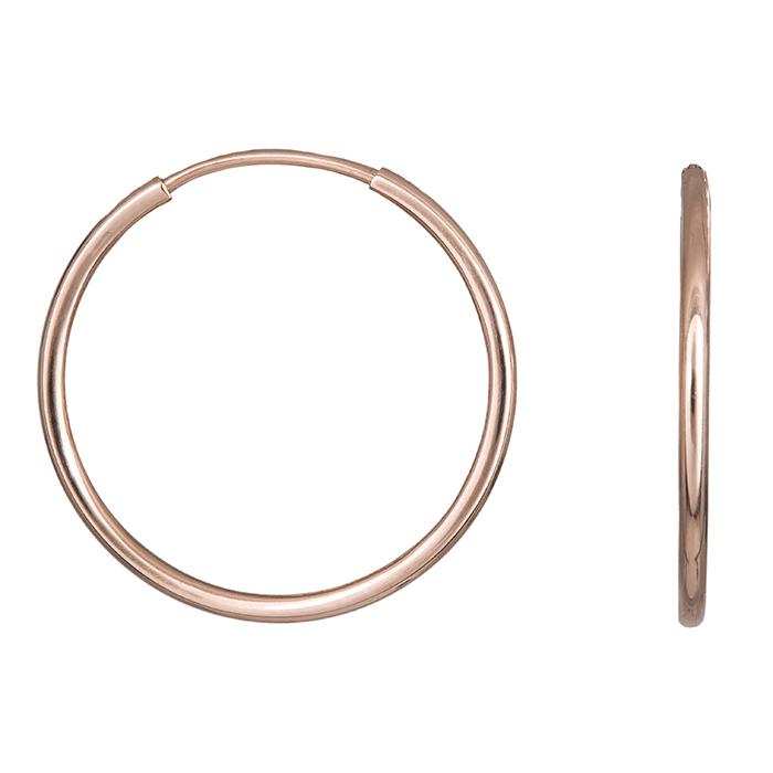 Γυναικείοι κρίκοι ροζ gold Κ14 032499 032499 Χρυσός 14 Καράτια