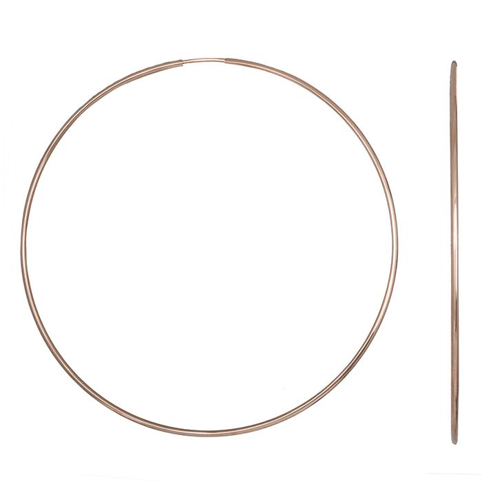Γυναικείοι χειροποίητοι κρίκοι Κ14 Ροζ gold 032506 032506 Χρυσός 14 Καράτια