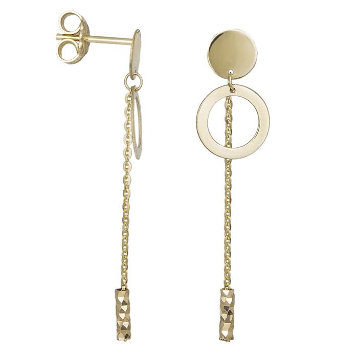 Γυναικεία χρυσά σκουλαρίκια Κ14 κρεμαστά 032528 032528 Χρυσός 14 Καράτια