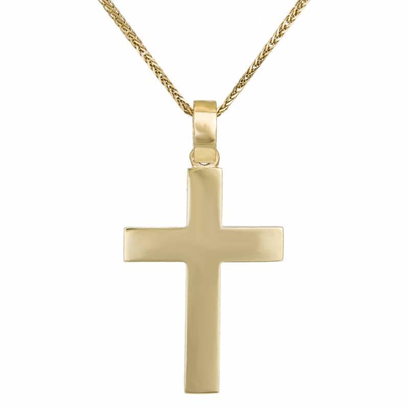Βαπτιστικοί Σταυροί με Αλυσίδα Ανδρικός σταυρός Κ14 χρυσός με αλυσίδα 032738C 032738C Ανδρικό Χρυσός 14 Καράτια