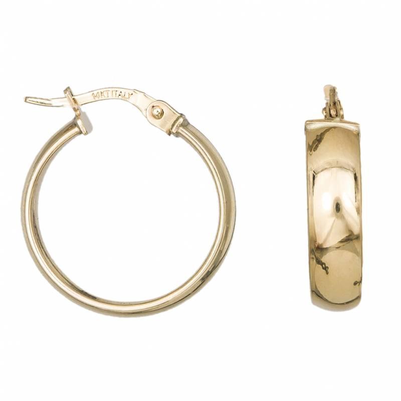 Γυναικεία χρυσά κρικάκια Κ14 λουστρέ 033410 033410 Χρυσός 14 Καράτια
