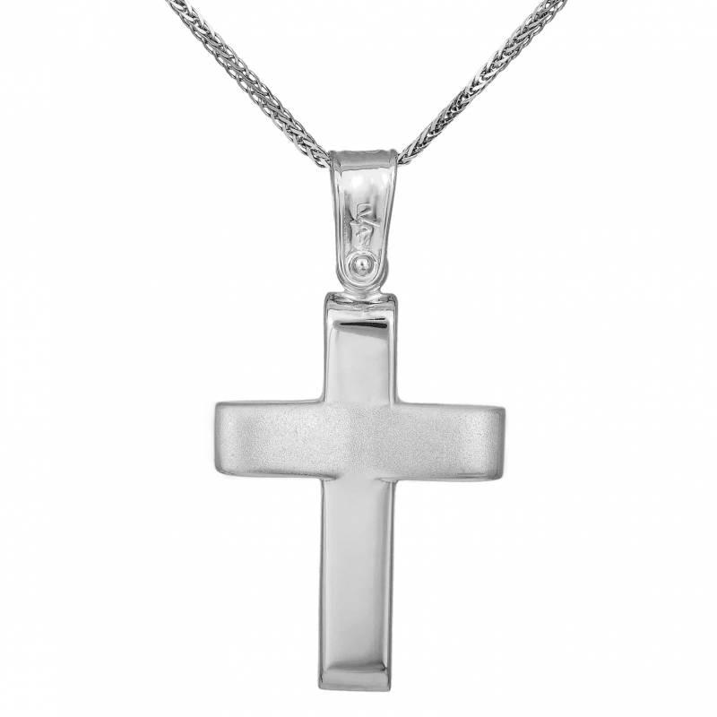 Βαπτιστικοί Σταυροί με Αλυσίδα Χειροποίητος ανδρικός σταυρός Κ9 σετ με αλυσίδα 033707C 033707C Ανδρικό Χρυσός 9 Καράτια
