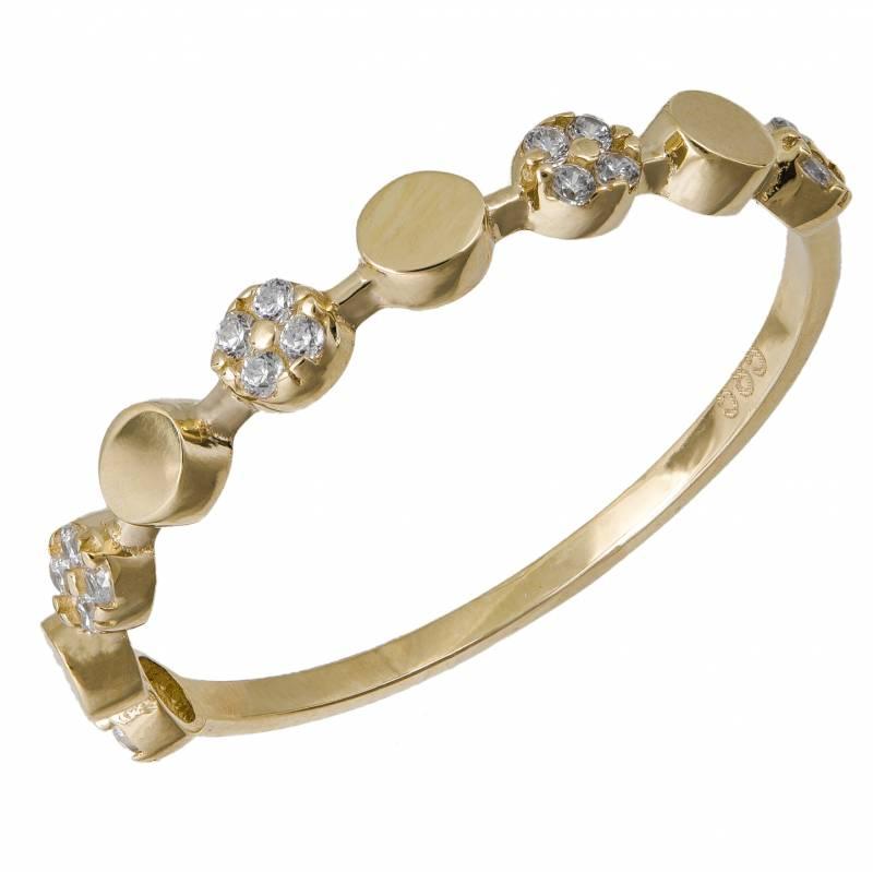 Χρυσό δαχτυλίδι 14Κ με ζιργκόν 033881 033881 Χρυσός 14 Καράτια