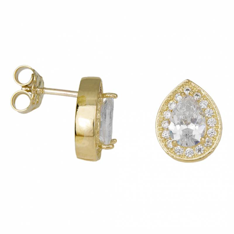 Γυναικεία σκουλαρίκια ροζέτες σε χρυσό Κ9 034076 034076 Χρυσός 9 Καράτια