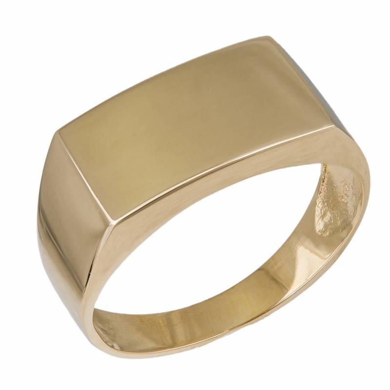 Ανδρικό χρυσό δαχτυλίδι Κ14 034290 034290 Χρυσός 14 Καράτια