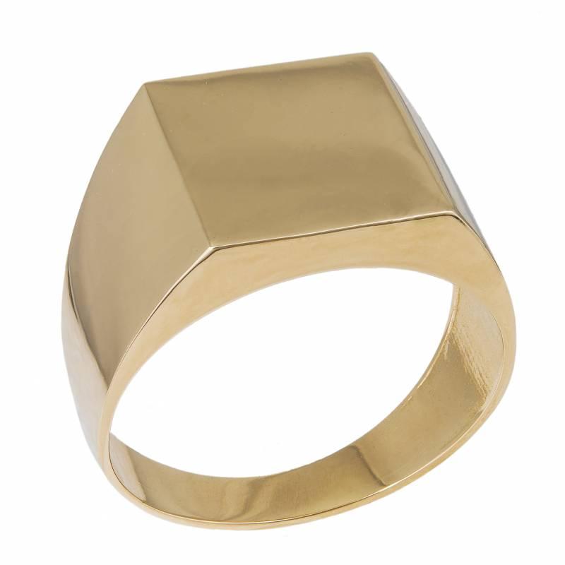 Ανδρικό δαχτυλίδι σεβαλιέ από χρυσό Κ14 034291 034291 Χρυσός 14 Καράτια