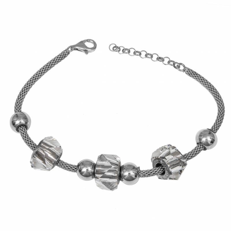 Γυναικείο ασημένιο βραχιόλι 925 με πέτρες Swarovski 034920 034920 Ασήμι