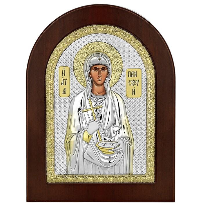Ασημένια εικόνα της Αγίας Παρασκευής 925 035073 035073 Ασήμι