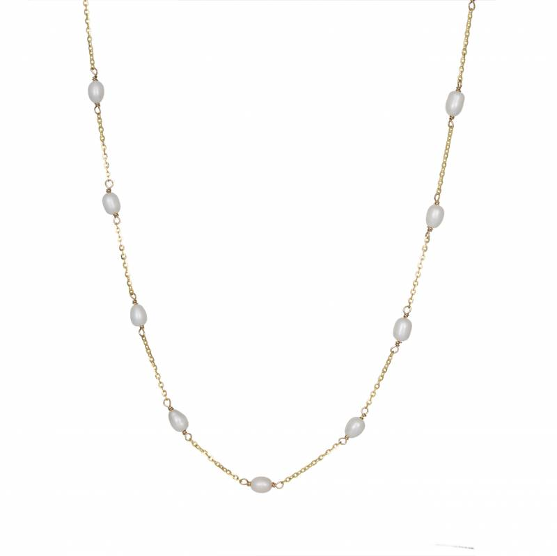 Γυναικείο ροζάριο από χρυσό 9 καρατίων με μαργαριτάρια 035085 035085 Χρυσός 9 Καράτια