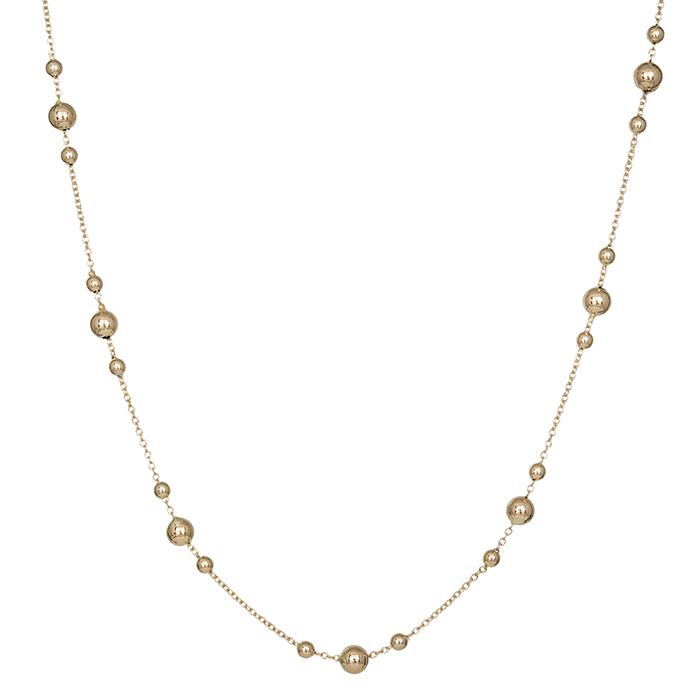 Γυναικείο κολιέ ροζάριο με μπίλιες από χρυσό Κ14 035489 035489 Χρυσός 14 Καράτια