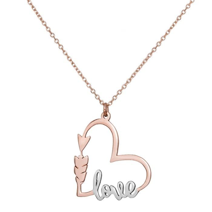Γυναικείο ροζ gold κολιέ Κ14 Love Arrow 035603 035603 Χρυσός 14 Καράτια