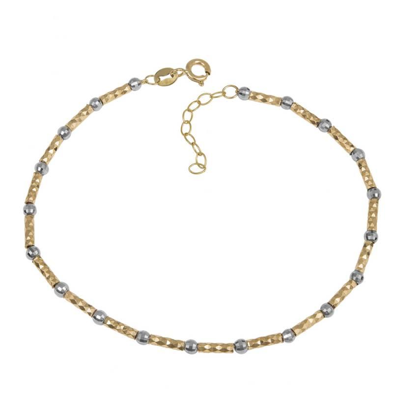 Γυναικείο βραχιόλι Κ14 two tone 035677 035677 Χρυσός 14 Καράτια