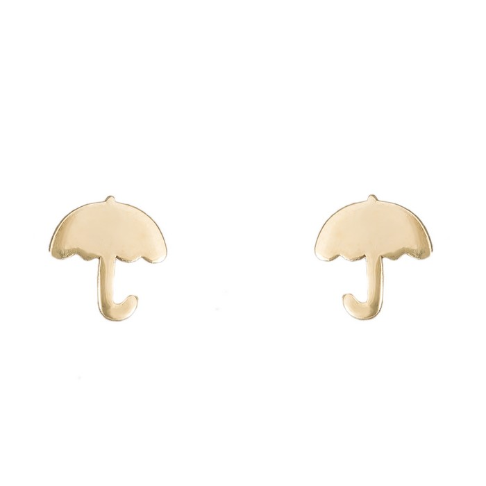 Χρυσά σκουλαρίκια Κ14 ομπρέλες 036054 036054 Χρυσός 14 Καράτια