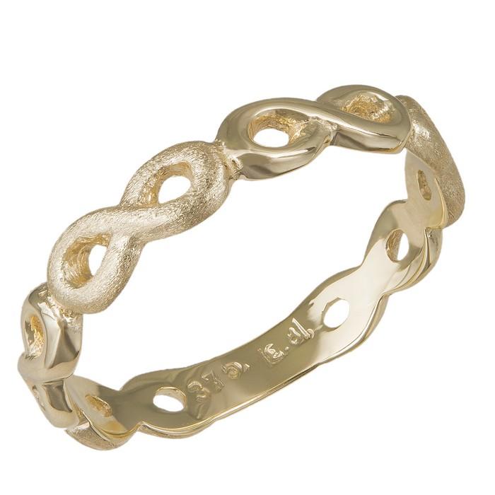 Γυναικείο δαχτυλίδι Κ9 λουστρέ και ματ απειράκια 036118 036118 Χρυσός 9 Καράτια