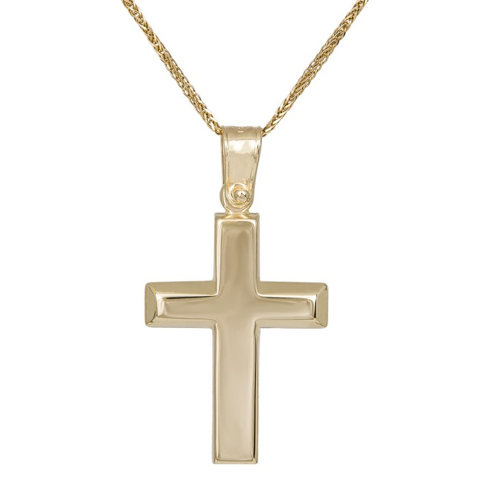 Βαπτιστικοί Σταυροί με Αλυσίδα Βαπτιστικός σταυρός με αλυσίδα από χρυσό Κ14 036156C 036156C Ανδρικό Χρυσός 14 Καράτια