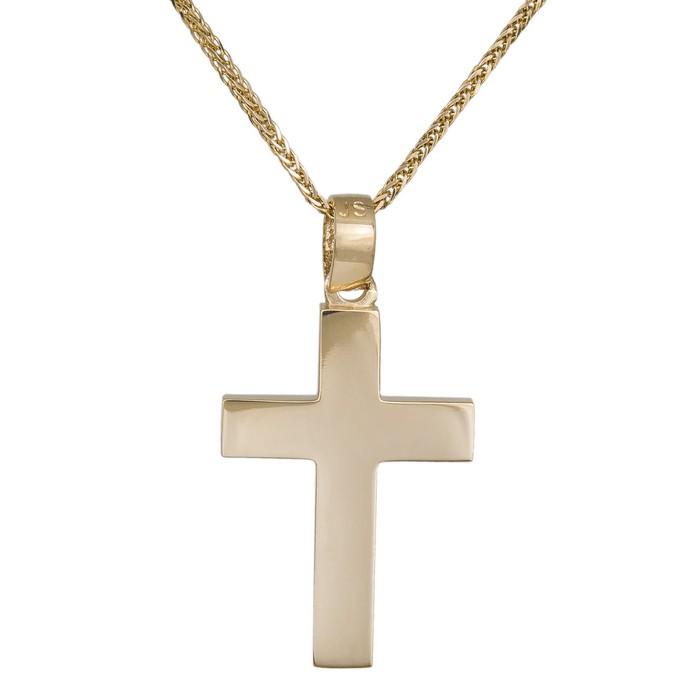 Βαπτιστικοί Σταυροί με Αλυσίδα Ανδρικός σταυρός αρραβώνα με αλυσίδα Κ18 036198C 036198C Ανδρικό Χρυσός 18 Καράτια