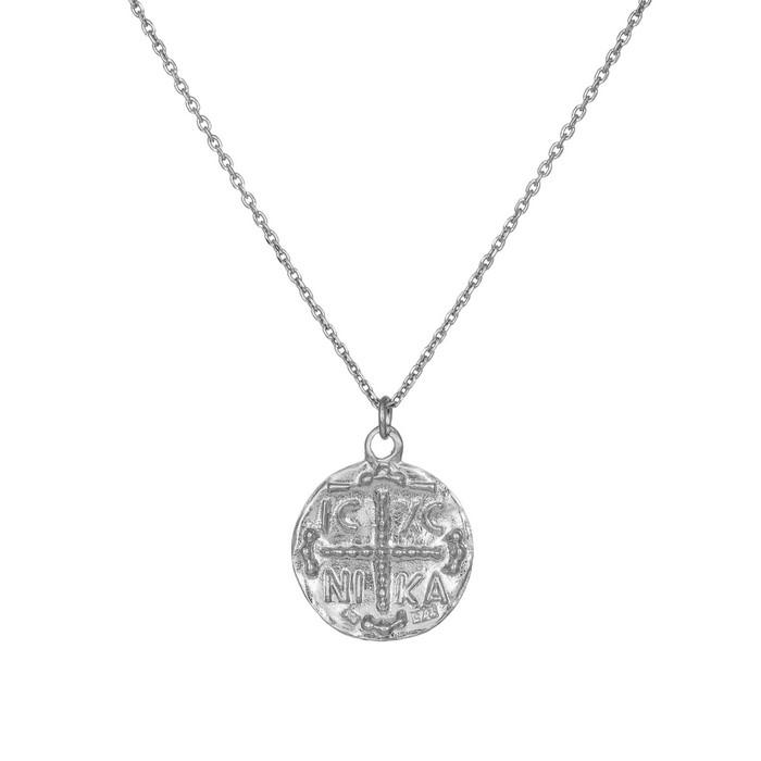 Ασημένιο κολιέ με κρεμαστό Κωνσταντινάτο 925 036263 036263 Ασήμι