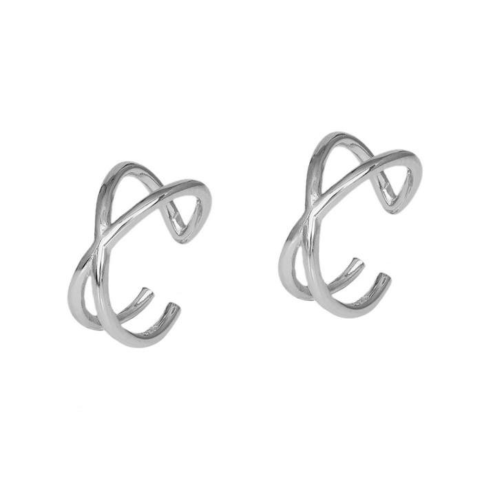 Ασημένια σκουλαρίκια σε σχέδιο Χ 925 036281 036281 Ασήμι