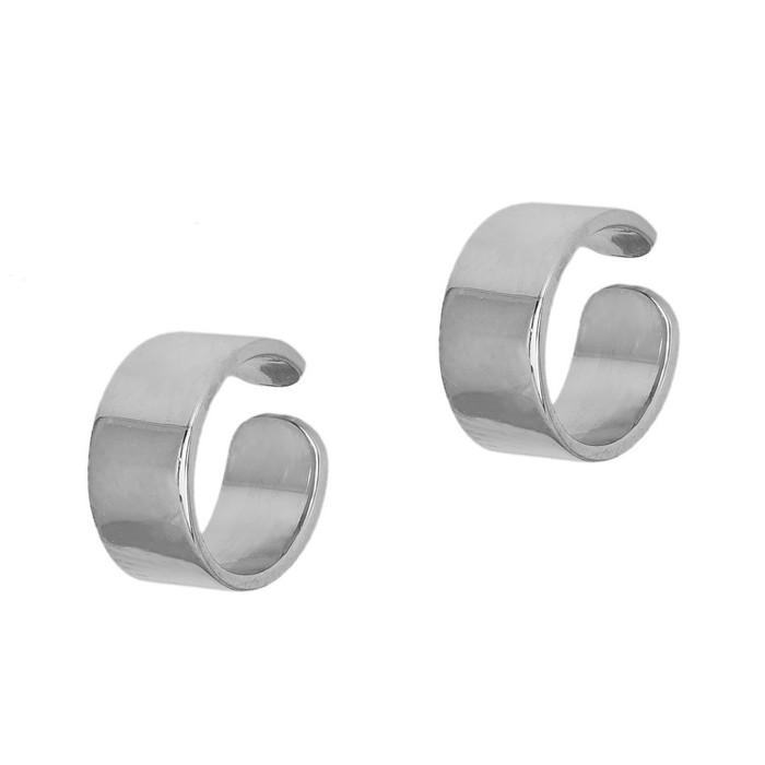Γυναικεία πλακέ σκουλαρίκια από ασήμι 925 036284 036284 Ασήμι