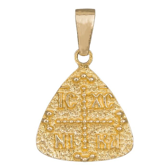 Ανάγλυφο χρυσό φυλαχτό Κ14 διπλής όψης 036364 036364 Χρυσός 14 Καράτια