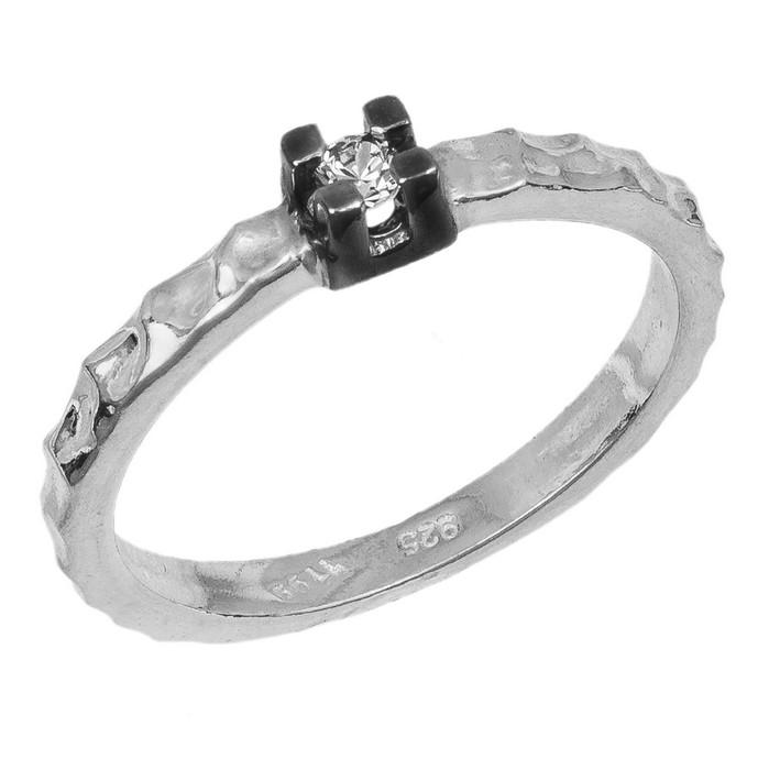 Ασημένιο δαχτυλίδι μονόπετρο 925 036714 036714 Ασήμι