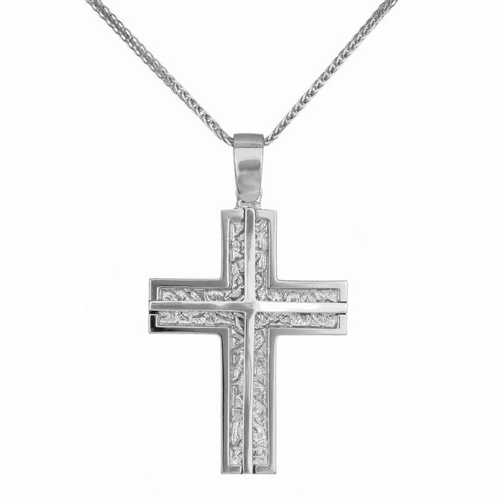 Βαπτιστικοί Σταυροί με Αλυσίδα Ανάγλυφος σταυρός βάπτισης σε αλυσίδα Κ14 037001C 037001C Ανδρικό Χρυσός 14 Καράτια