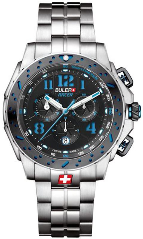 Buler Racer Stainless Steel Bracelet 49.123 49.123 Ατσάλι