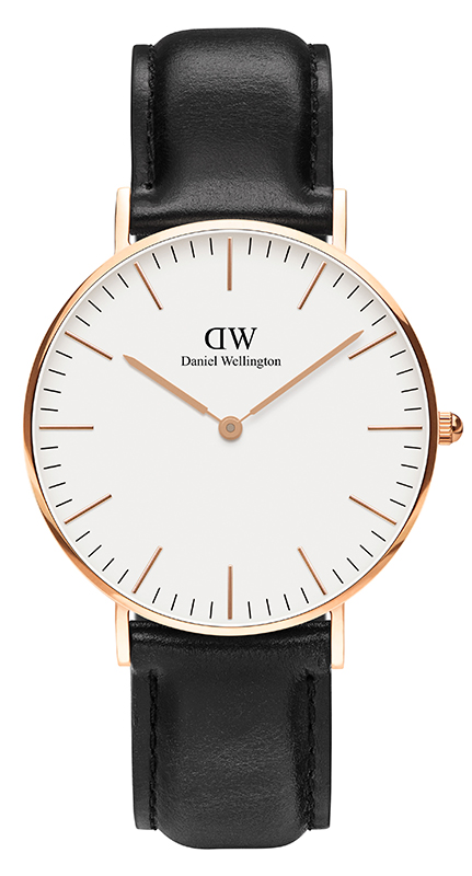Γυναικείο ρολόι Daniel Wellington Shaffield Black Leather Strap 0508DW 0508DW Ατσάλι