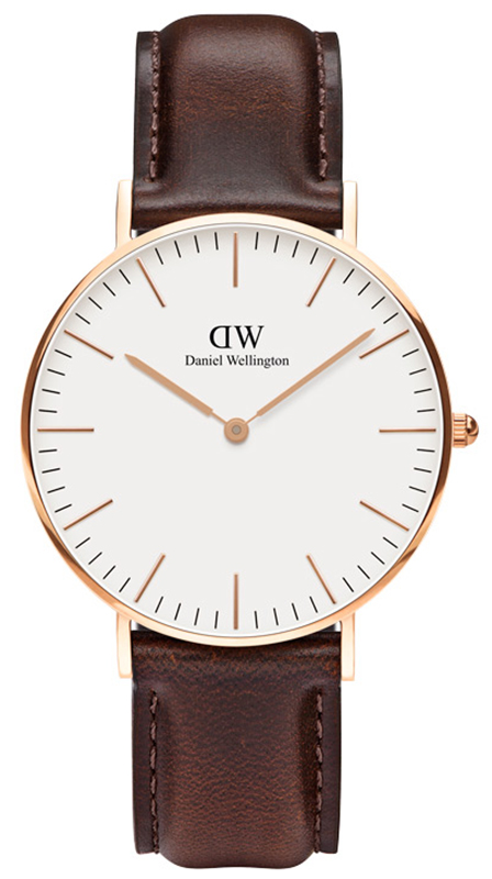 Ρολόι Daniel Wellington Bristol Brown Leather Strap 0511DW 0511DW Ατσάλι