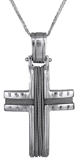 Βαπτιστικοί Σταυροί με Αλυσίδα Αντρικός σταυρός 14Κ C000518 000518C Ανδρικό Χρυσ σταυροί βάπτισης   γάμου βαπτιστικοί σταυροί με αλυσίδα
