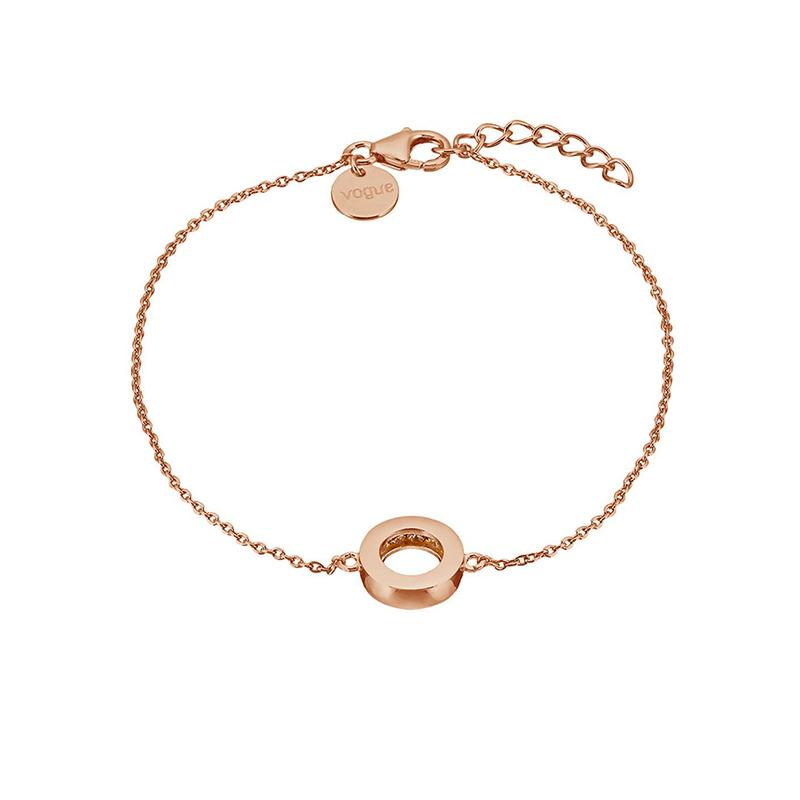 Γυναικείο βραχιόλι 925 Vogue Pink Gold Circle 075336.2 075336.2 Ασήμι
