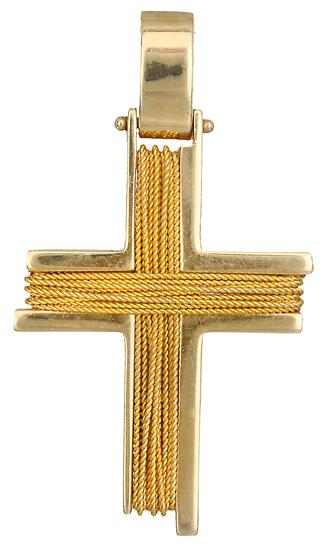 Σταυροί Βάπτισης - Αρραβώνα Βαπτιστικός σταυρός για αγόρι 007882 007882 Ανδρικό Χρυσός 14 Καράτια
